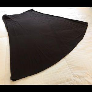 Jones New York - 2X, Chocolate Brown Flared Skirt